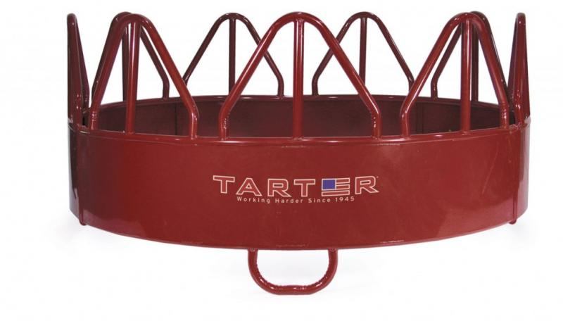 Three Piece Horse Hay Feeder with Loop Legs-Red Horse Image