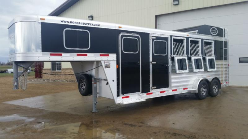 Exiss 4 Horse with Polylast Flooring Trailers Image