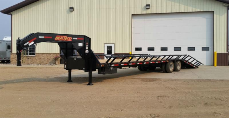 Maxxd 36ft GN Flatbed with Hydraulic Dovetail, Duals,Haysides Trailers Image