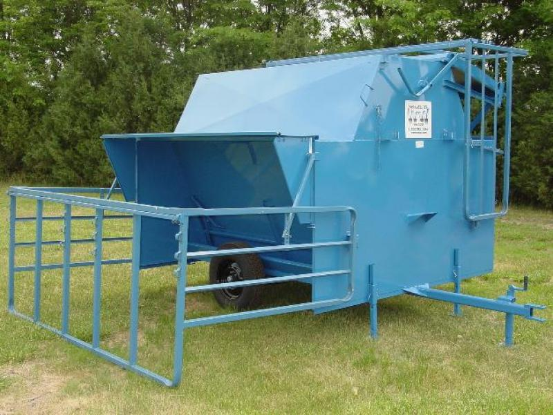 160 Bushel Creep Feeder w/ Panels Livestock Image